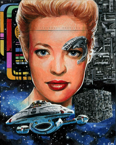 Chris Meeks Sketch Return - Seven of Nine