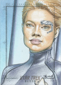 Rhiannon Owens Sketch - Seven of Nine