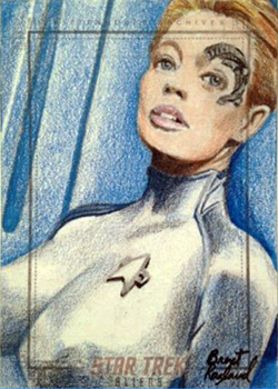 Brent Ragland Sketch Return - Seven of Nine
