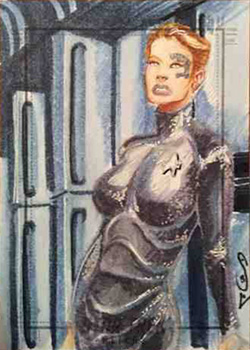 Jason Sobol Sketch Return - Seven of Nine