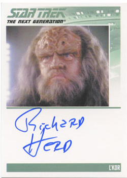 Autograph - Richard Herd