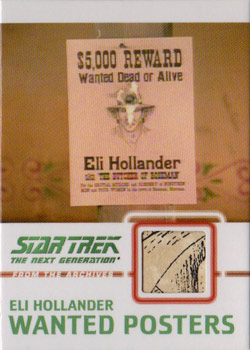 C12 Hollander Wanted Poster Relic Card A