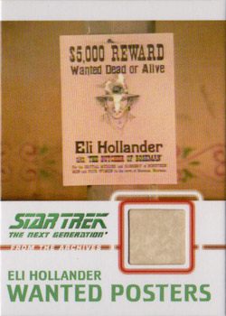 C12 Hollander Wanted Poster Relic Card B