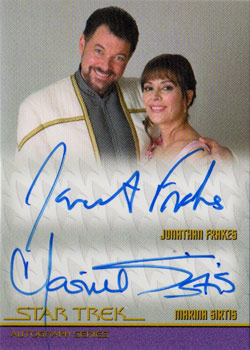 Sirtis and Frakes Autograph Card