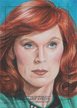 Kristin Allen Sketch - Beverly Crusher