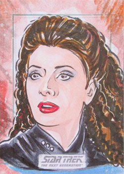 Keith Carter Sketch - Deanna Troi
