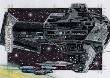 Adam & Bekah Cleveland Sketch - USS Enterprise NCC 1701-D and Renegade Borg Ship #4