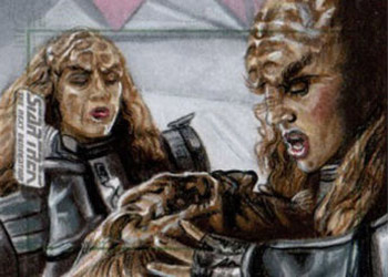 Adam & Bekah Cleveand AR Sketch - Sisters of Duras with Worf
