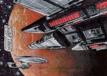 Adam & Bekah Cleveland Sketch - Tamarian Ship and USS Enterprise NCC 1701-D