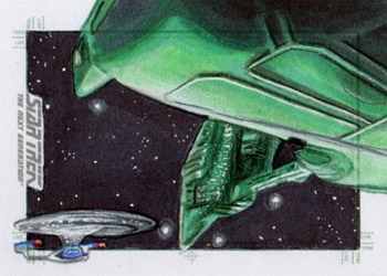 Adam & Bekah Cleveland Sketch - Romulan Warbird and USS Enterprise NCC 1701-D