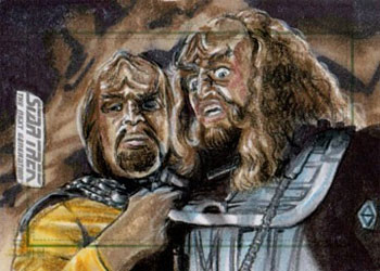 Adam & Bekah Cleveland Sketch - Worf and Gowron