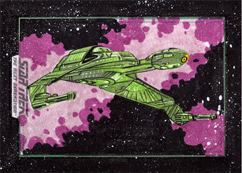 Roy Cover Sketch - Klingon Bird of Prey