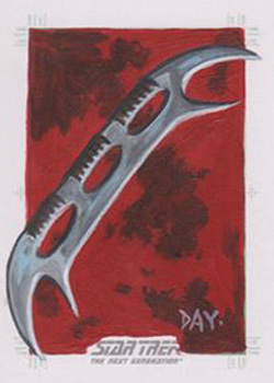 David Day Sketch - Klingon Bat'leth