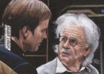 Javier Gonzalez Sketch - Reginald Barclay and Einstein