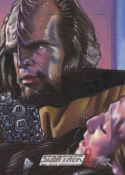 Javier Gonzalez Sketch - Worf and K'Ehleyr