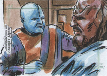 Daniel Gorman Sketch - Mot the Barber and Worf