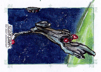 Daniel Gorman Sketch - Klingon Vor'cha Class Ship