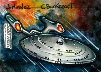 James Hiralez Sketch - USS Enterprise NCC 1701-E