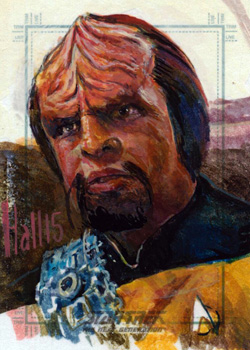 Charles Hall Sketch - Worf