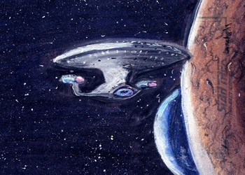 Laura Inglis Sketch - USS Enterprise NCC 1701-D