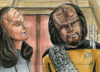 Laura Inglis Sketch - Worf and K'Ehleyr