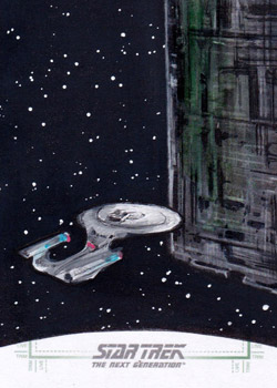 Michael James Sketch - Enterprise and Borg Cube