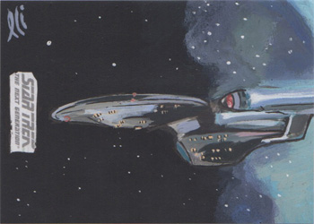 Lee Lightfoot Sketch - USS Enterprise NCC-1701-C