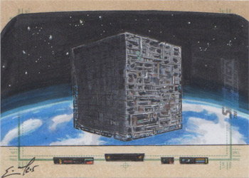 Eric McConnell Sketch - Borg Cube