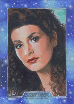 Chris Meeks Sketch - Deanna Troi