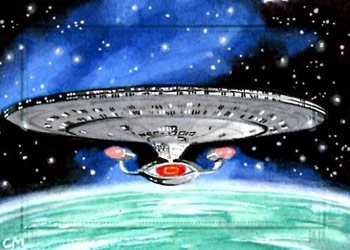 Chris Meeks Sketch - USS Enterprise NCC 1701-D