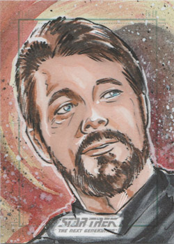 Judit Tondora Sketch - WIlliam Riker