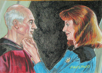Norman Faustino Sketch - Jean-Luc Picard and Beverly Crusher