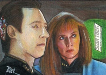 Javier Gonzalez Sketch - Data and Beverly Crusher