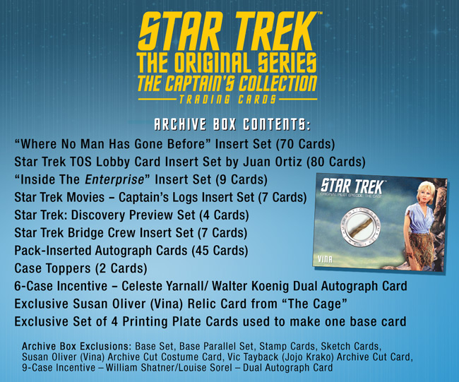 TOS Captain's Archive Box Contents