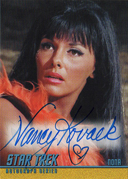 TOS Captain's Autograph A288 Nancy Kovack