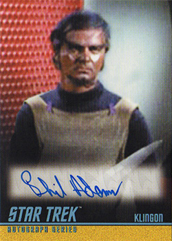 TOS Captain's Autograph A299 Phil Adams