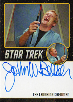 TOS Captain's Black Border Autograph - John Bellah