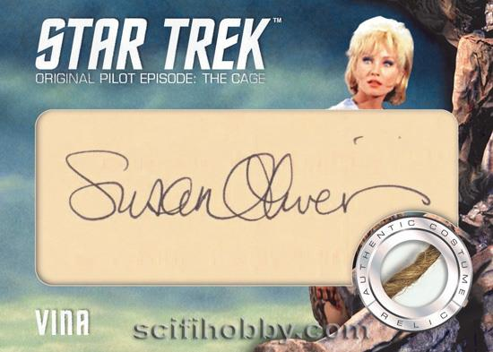TOS Captain's Cut Signature Relic Card - Suaan Oliver