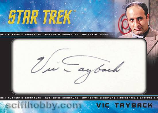 TOS Captain's Cut Signature Card - Vic Tayback
