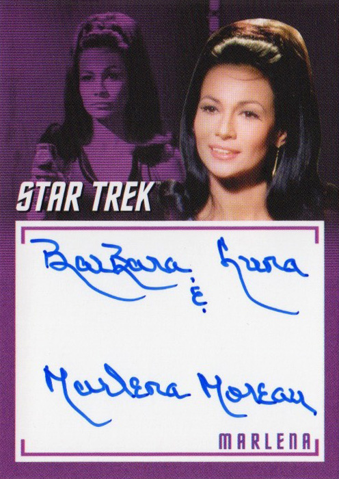 TOS Captain's Inscription Autograph A2 - Barbara Luna