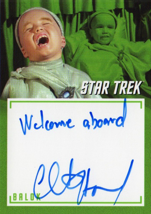 TOS Captain's Inscription Autograph A3 - Clint Howard