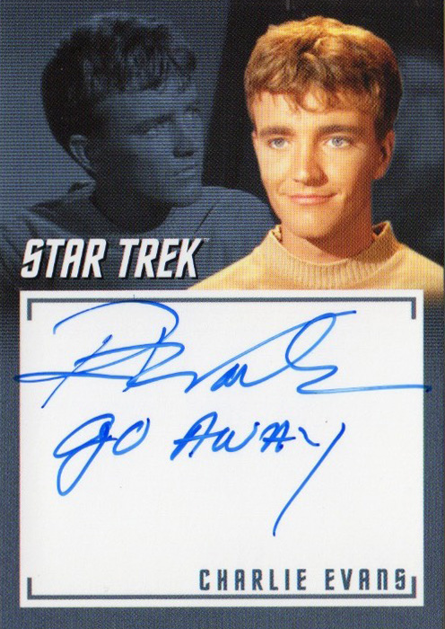TOS Captain's Inscription Autograph A4 - Robert Walker Jr.