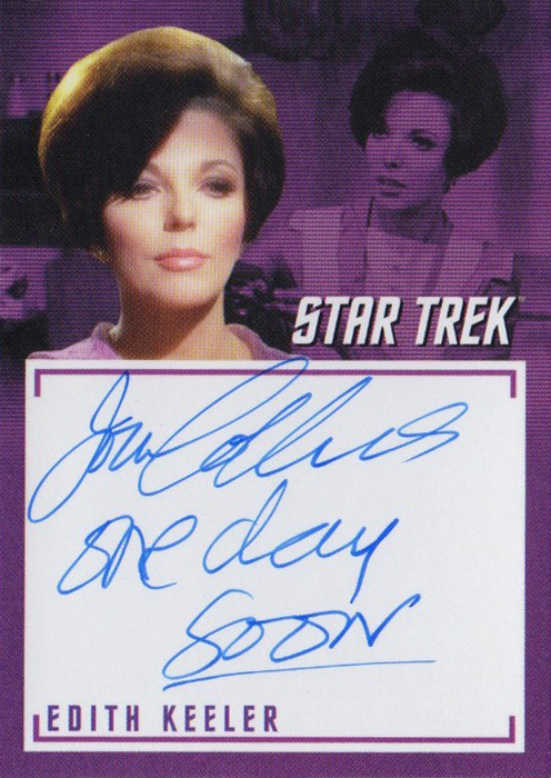 TOS Captain's Inscription Autograph A5 - Joan Collins