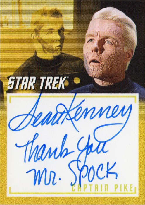 TOS Captain's Inscription Autograph A6 - Sean Kenney