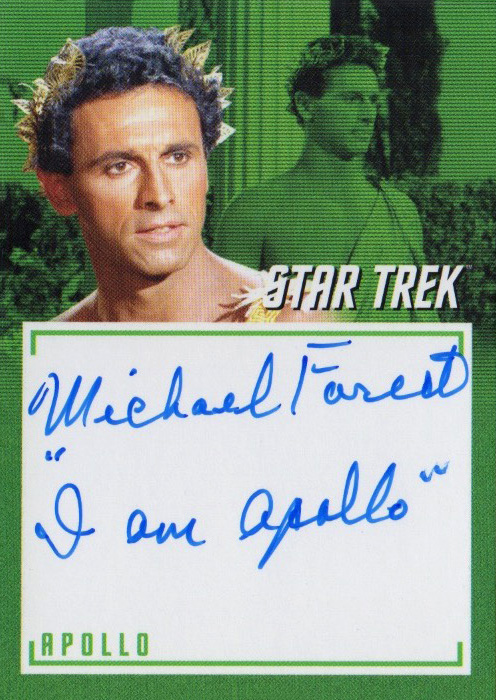TOS Captain's Inscription Autograph A7 - Michael Forest
