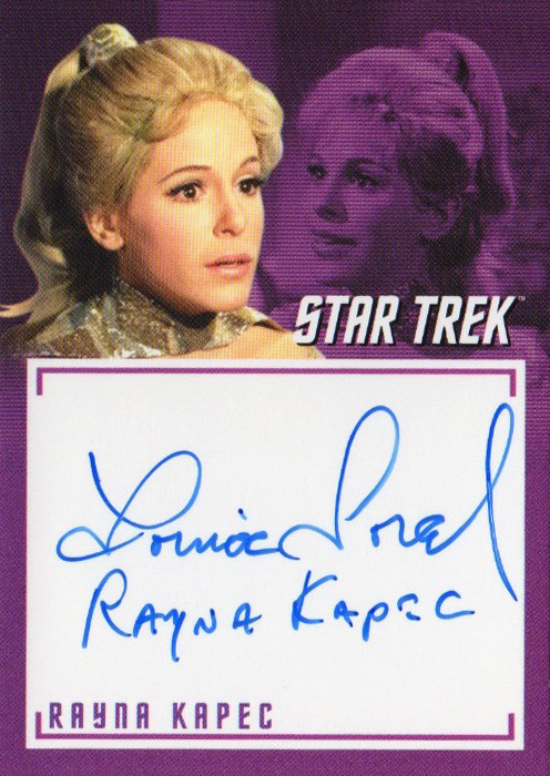 TOS Captain's Inscription Autograph A8 - Louise Sorel