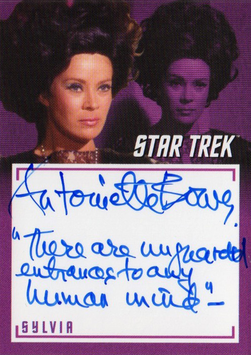 TOS Captain's Inscription Autograph A10 - Antoinette Bower