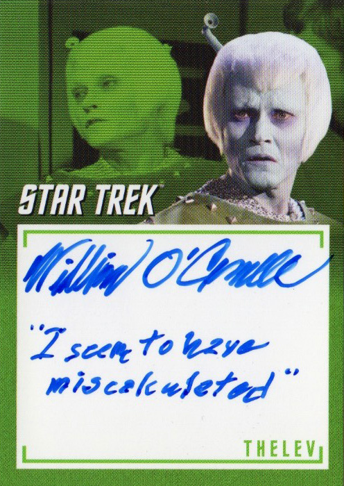TOS Captain's Inscription Autograph A11 - William O'Connell