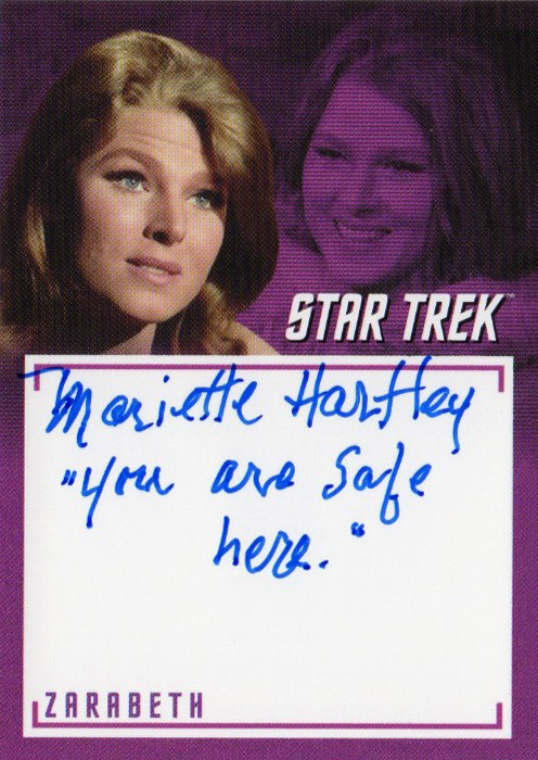 TOS Captain's Inscription Autograph A12 - Mariette Hartley
