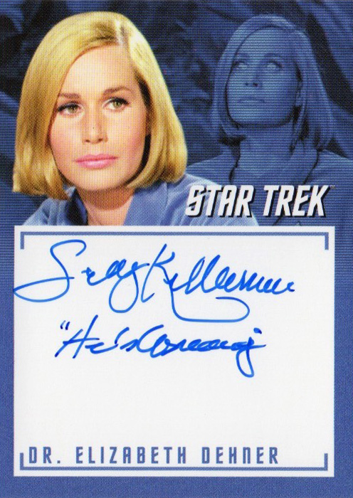 TOS Captain's Inscription Autograph A4 - Sally Kellerman